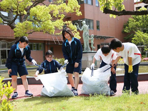 ボランティア活動:清掃