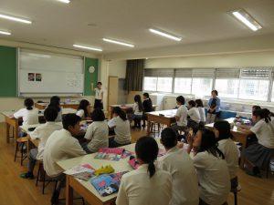 高井田中学校 出張授業 | 東大阪大学敬愛高等学校